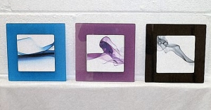 Set of three Decorative Glass Wall Art Pieces