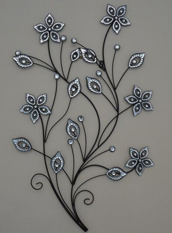 Stunning large metal flower wall art